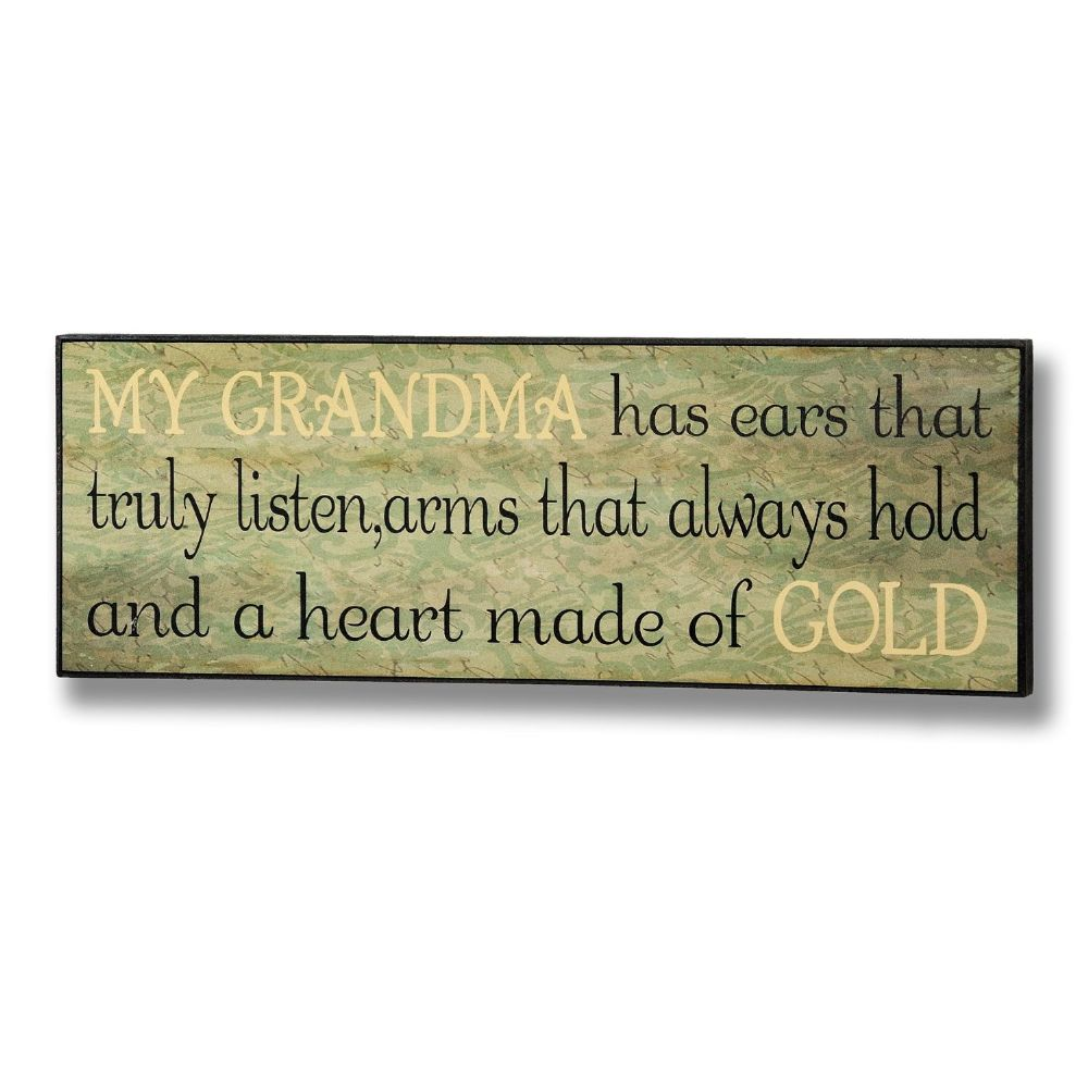 My Grandma Plaque Wooden Sign - 14cm x 40cm